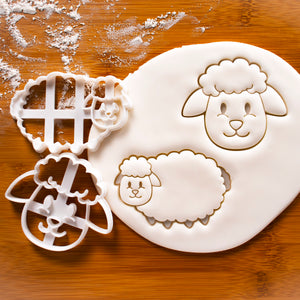 Set of 2 Sheep cookie cutters - Face and Body