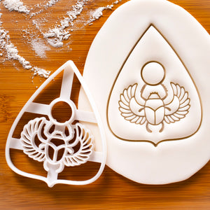 Planchette with Scarab and Wings Cookie Cutter