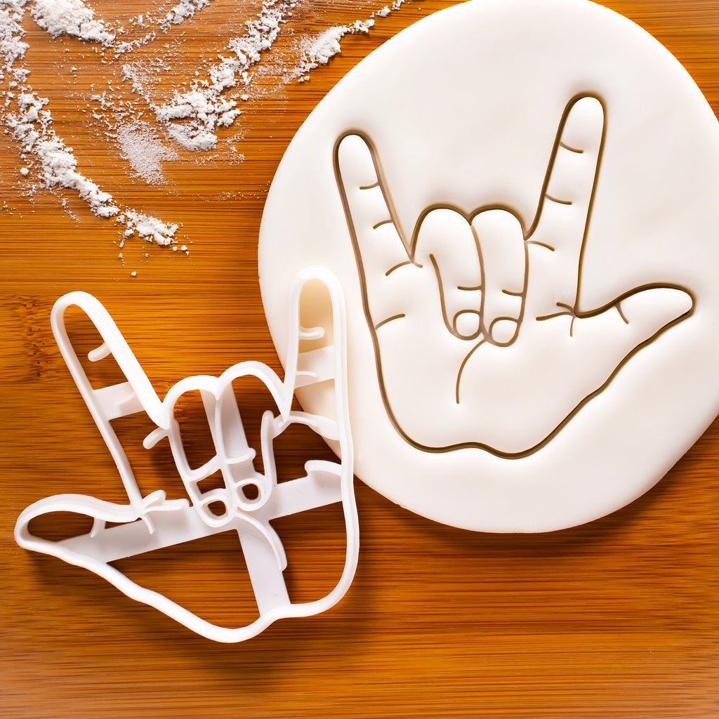 Hand Sign I Love You cookie cutter