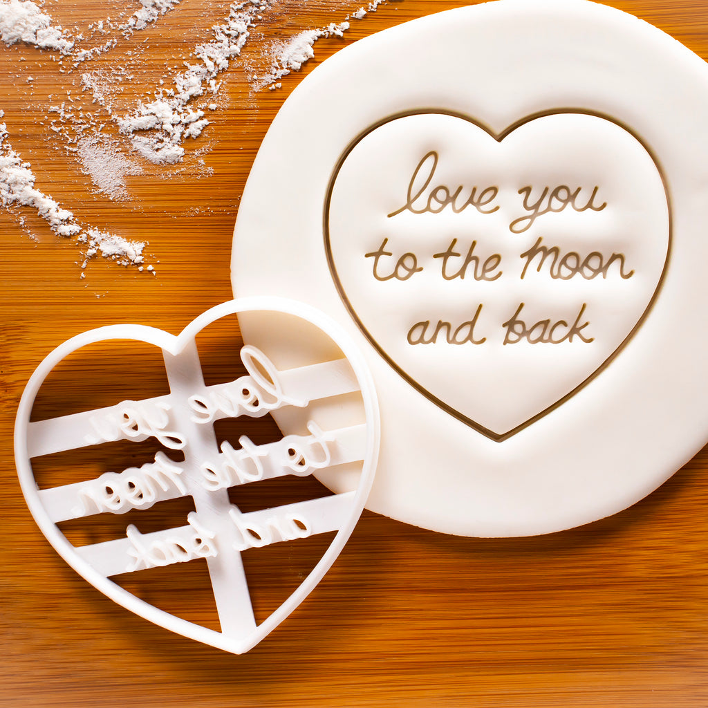 Love You to the Moon and Back cookie cutter