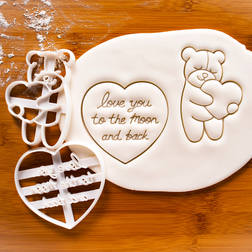 Love You to the Moon and Back Cookie Cutter & Cute Bear Cookie Cutter