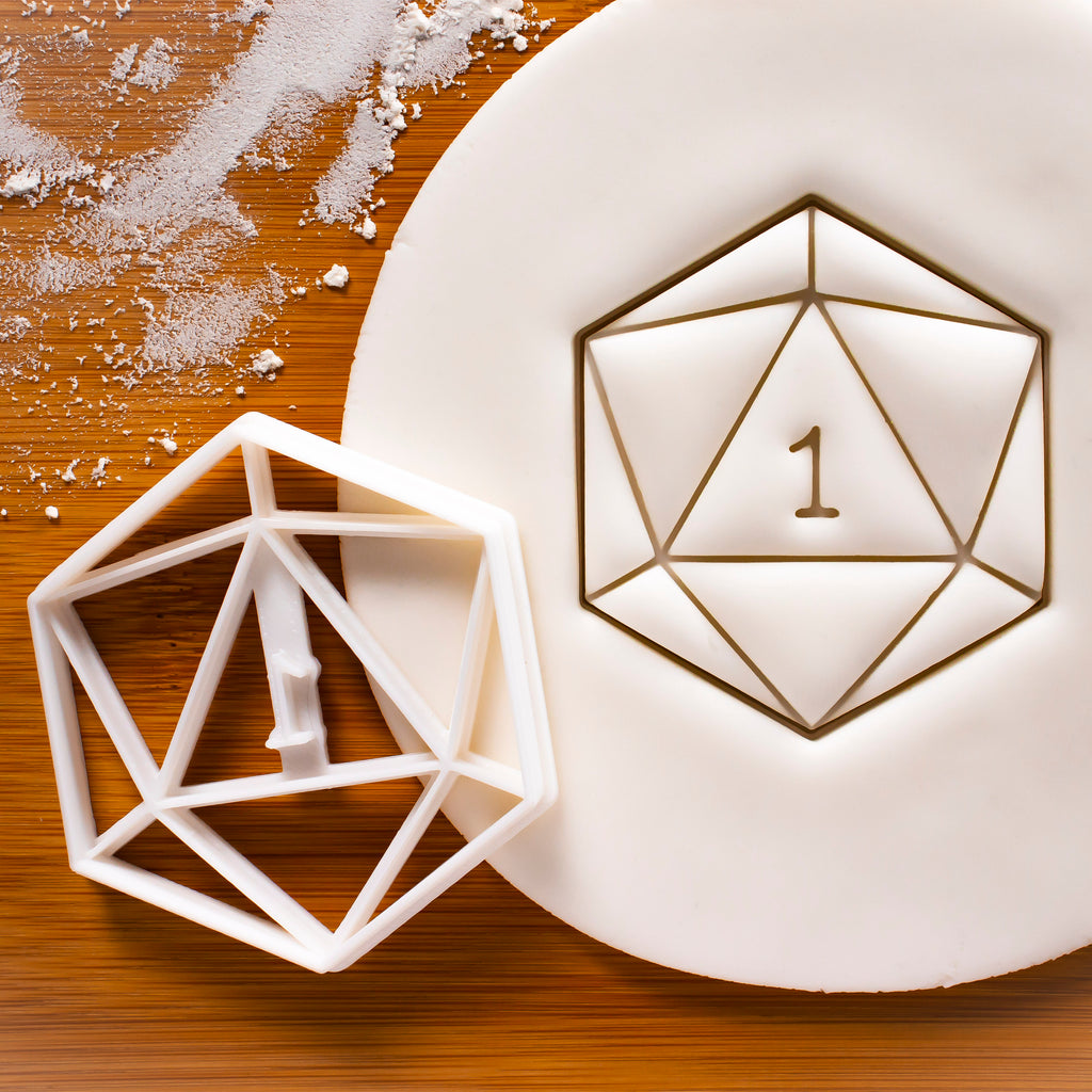 Natural 1 Icosahedron Cookie Cutter