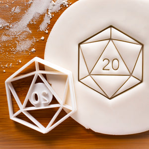 Natural 20 Icosahedron Cookie Cutter