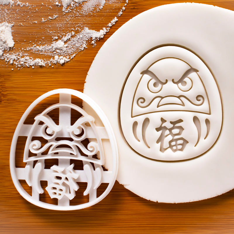 Angry Daruma Doll Cookie Cutter