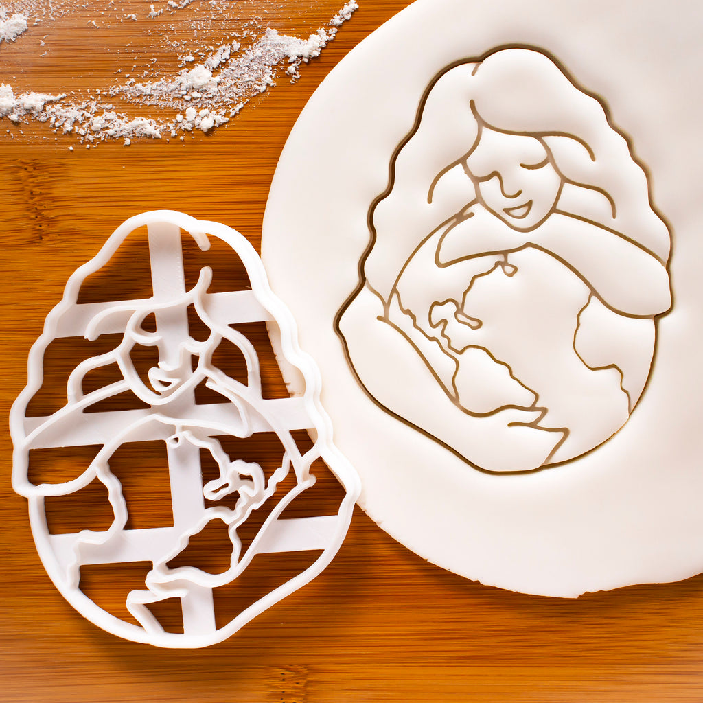 Gaia Earth Goddess cookie cutter