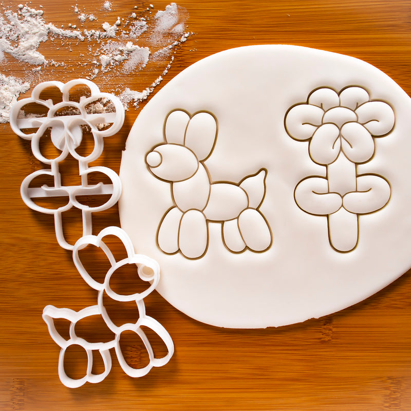 Balloon Dog and Flower Cookie Cutters