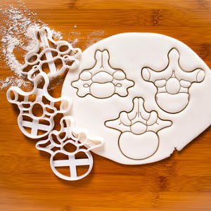 Set of 3 Vertebrae Cookie Cutters (Cervical, Lumbar, and Thoracic)