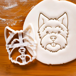 Westie Dog Face cookie cutter