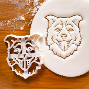 Border Collie Face cookie cutter