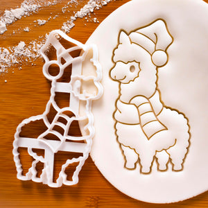 Christmas Alpaca cookie cutter