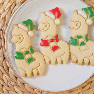 christmas alpaca cookies