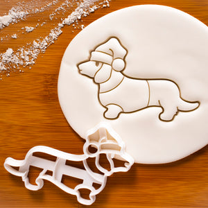 Christmas Dachshund cookie cutter
