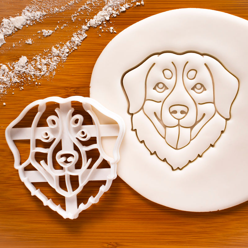 Bernese Mountain Dog Face Dog Face cookie cutter