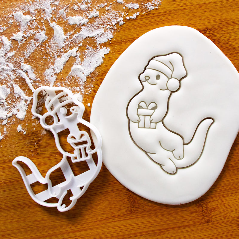 christmas otter cookie cutter