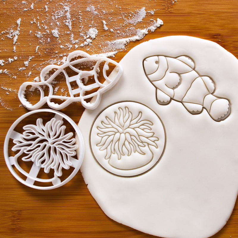 set of clownfish and sea anemone cookie cutters