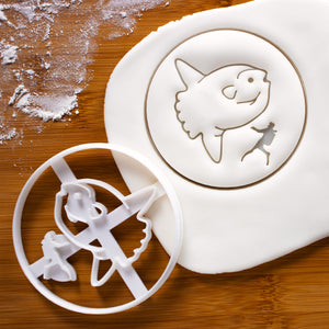 Sunfish and diver cookie cutter