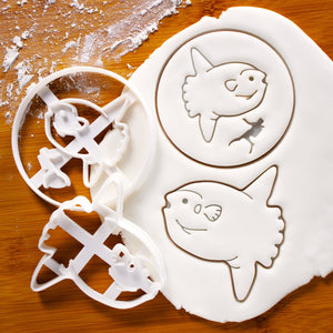 Set of 2 Cookie Cutters: Sunfish and Sunfish and Diver