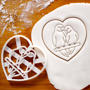 Lovebirds in Heart Cookie Cutter