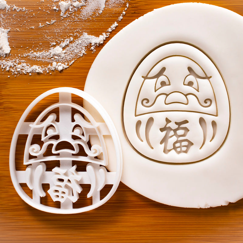 Worried Daruma Doll Cookie Cutter