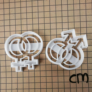 lesbian and gay symbols cookie cutters