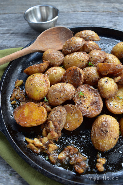 Buttery Lemon and Thyme Baby Potatoes