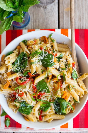 Smooth Balsamic Sweet Pepper Summer Pasta Salad