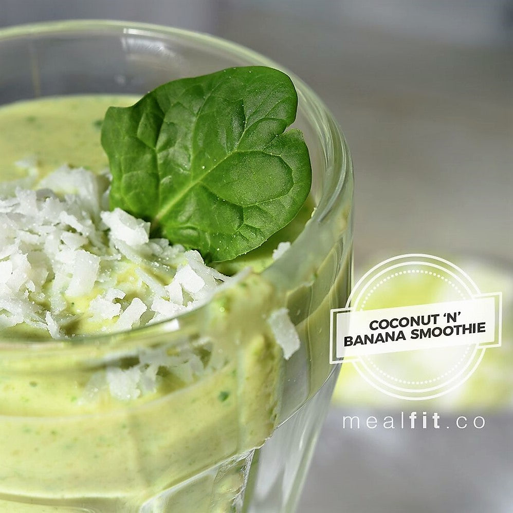Green Coconut & Banana Smoothie