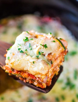 Lean Low Carb Crockpot Lasagna