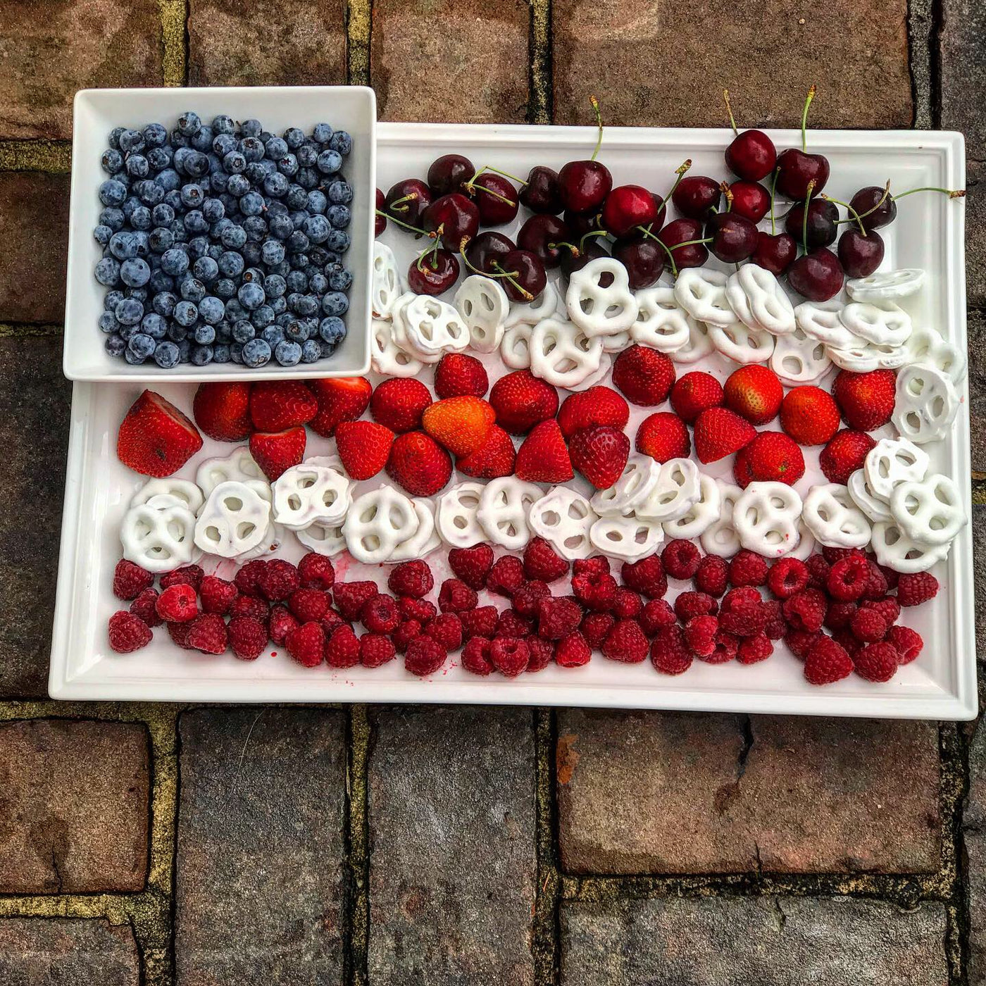 4th of July Flag Fruit Dessert