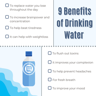 9 Benefits of Drinking More Water