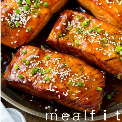 Salmon Teriyaki with Broccoli