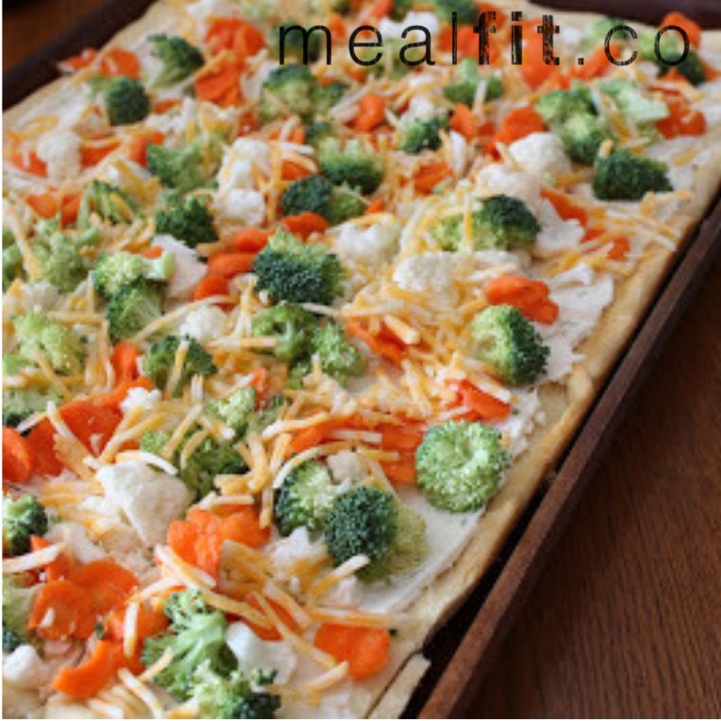 Cold Veggie Pizza