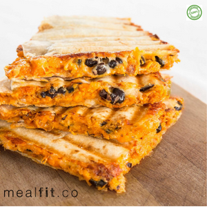 Black Bean & Roasted Sweet Potato Quesadillas