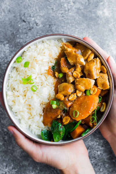 Freezer Asian Peanut Chicken Crockpot Meal