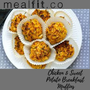 Chicken & Sweet Potato Breakfast Muffins