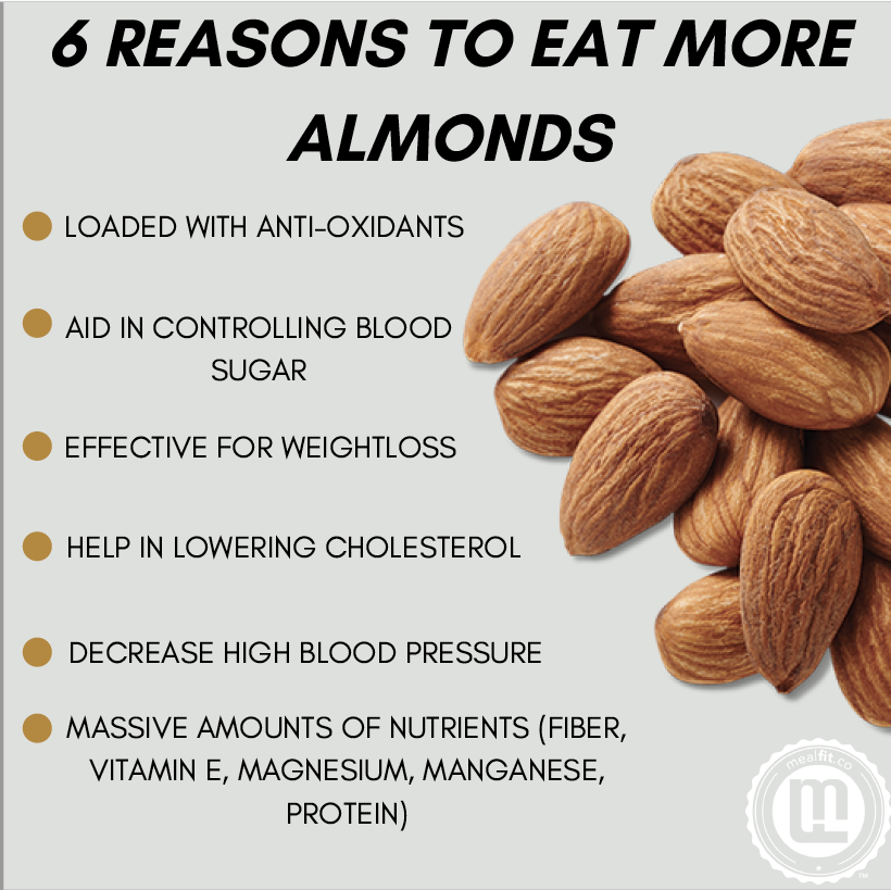 6 reasons to eat more almonds infographic