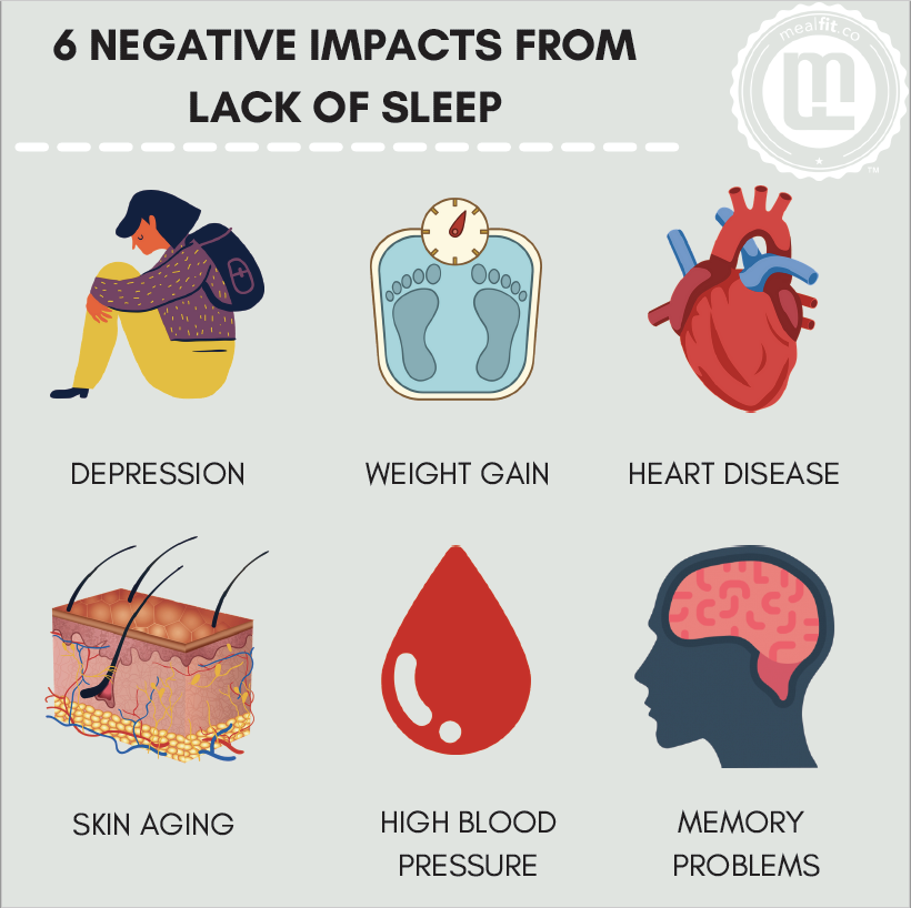 6 negative impacts from lack of sleep