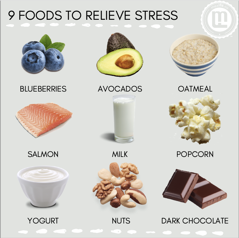 9 foods to relieve stress