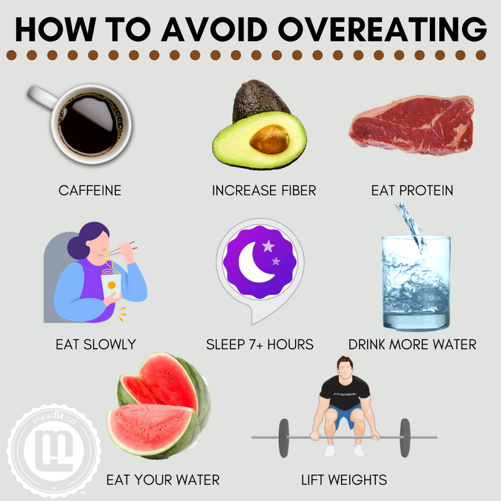 how to avoid overeating infographic