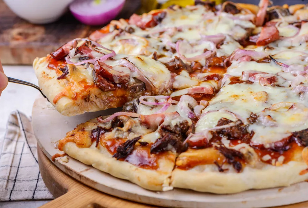 baked stuffed crust barbecue pizza