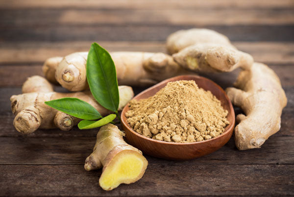 Ground ginger and root