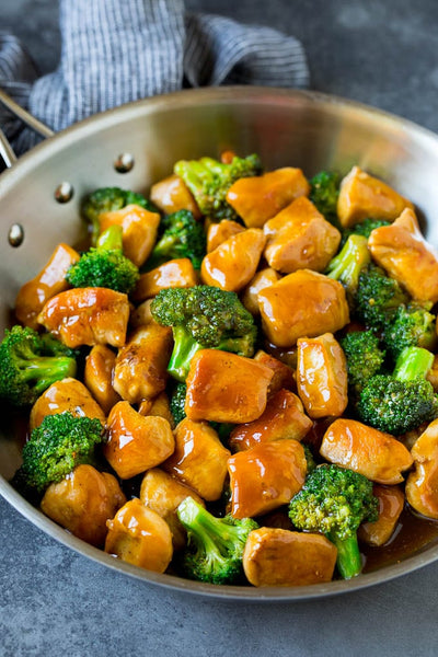 ginger chicken and broccoli