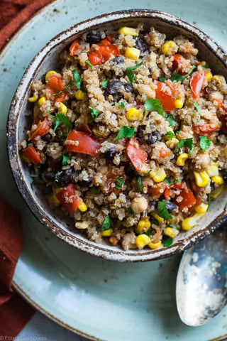 one pan Mexican quinoa in slow cooker