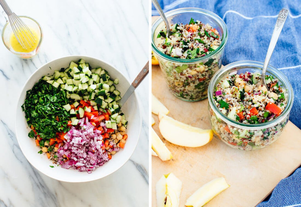 fresh quinoa salad ingredients
