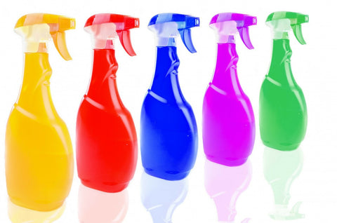 cleaning fluid bottles
