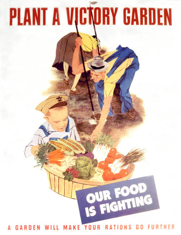 Catering companies relied on food from victory gardens to prepare food to send to the soldiers.