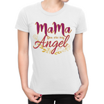 """Mama Angel"" Ladies Round Neck Tshirt 160gsm"
