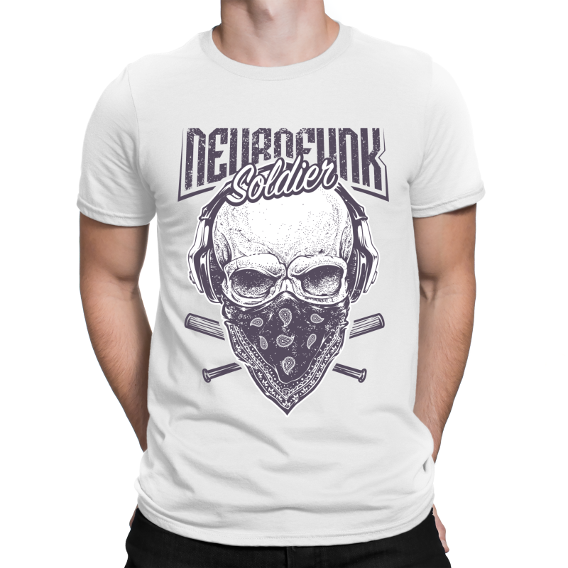 """Neurofunk Soldier"" Softstyle Adult T-Shirt"