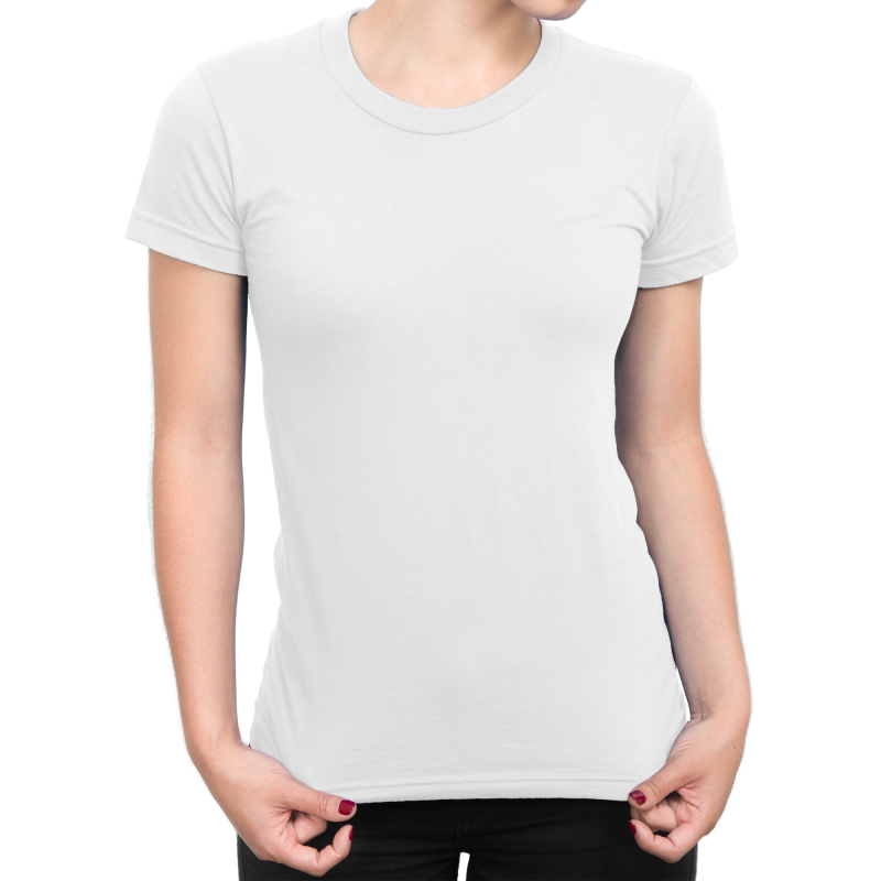Standard Round Neck Short Sleeve Women Slim Fit T-Shirt 160gsm