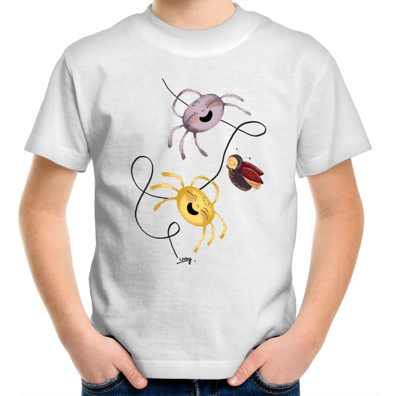 The Amazing Animal Series : The Seven Legged Spider : Kids Round Neck Tshirt